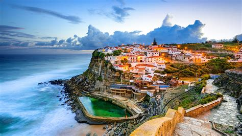 seaside scenery tourist town sintra portugal preview wallpapercom