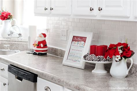 Christmas Kitchen Décor Rustoleum Kitchen Cabinets How To Install Light Under Designs Of Los Angeles Spray Painting Off White With Glaze Painted Metal Cabinet Sizes
