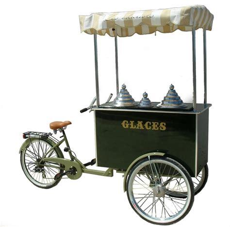 triporteur cuisine carrettino gelati chariot à glaces charrette eisfahrrad eisstände eisvitrine