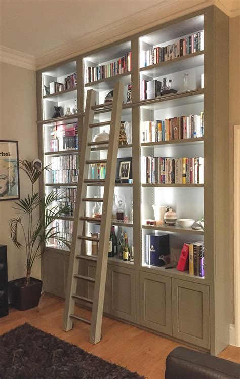 Bookcase With Closed Storage by Ikea Bookcase Lighting With Display Cabinet Family Room