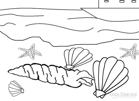 printable seashell coloring pages  kids coolbkids