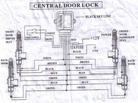 Honda Accord Door Lock Wiring Diagram by Installing A Universal Central Locking System On My Dx