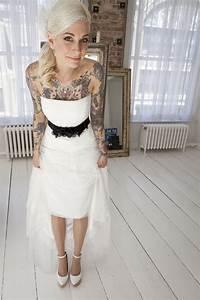 tattooed bride tatts ink tattoo tattoo pinterest With tattoos and wedding dresses
