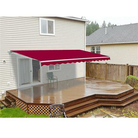 aleko retractable motorized patio ft   ft  awning wayfair