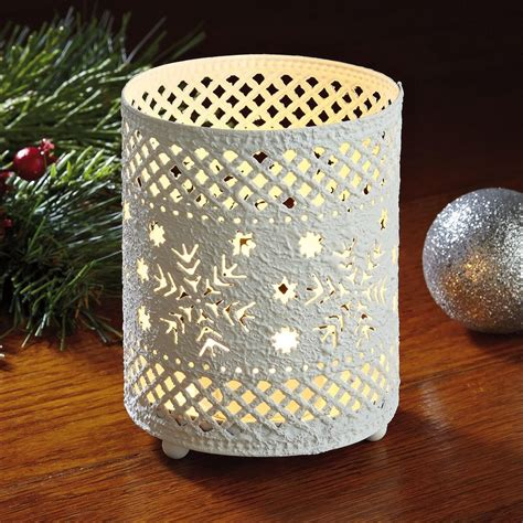 snowflake candle holders white snowflakes metal candle holder current catalog