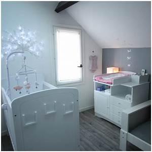 Chambre Gris Blanc : deco chambre gris et blanc pour bebe sidonie et gedeon ~ Melissatoandfro.com Idées de Décoration