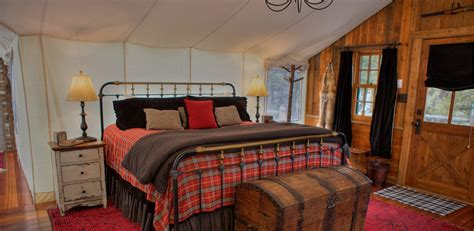 luxury glamping trapper cabin  ranch  rock creek