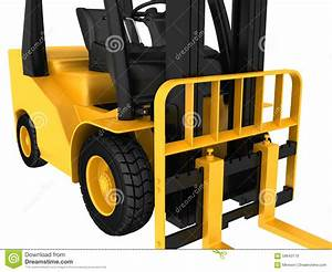 The Mechanism Of Forklift Truck And Front Wheel Stock ...