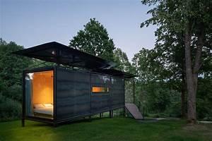Une Cabane Design De 23m2 En M U00e9tal Transportable Et