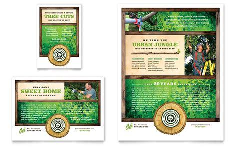 Tree Service Tri Fold Brochure Template Word Publisher Tree Service Flyer Ad Template Word Publisher