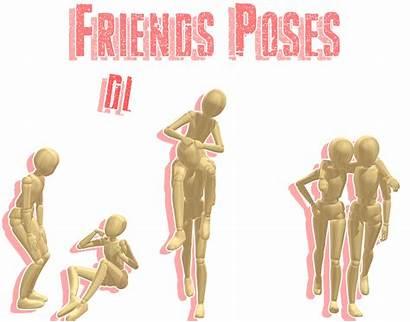Mmd Poses Dl Friends Pose Deviantart Pack