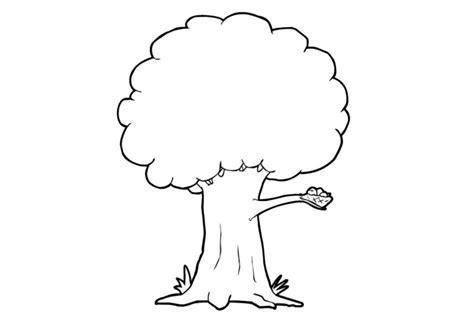 Bomen Kleurplaten by Kleurplaat Boom Afb 13950