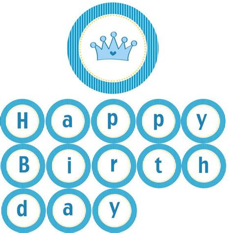 Happy Birthday Decorations Printable by Birthday Banners Blue Stripes And Banners On Pinterest