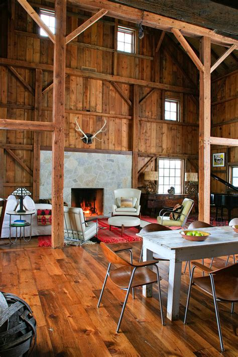 modern michigan barn house conversion  rustic