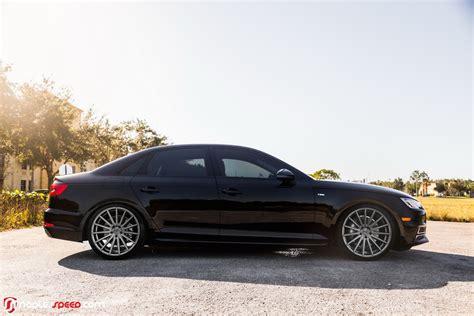 """2017 Audi A4 Hunkers Down On 20"""" Custom Wheels"""