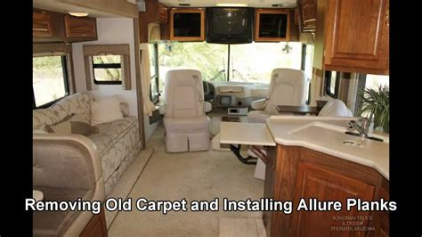remove  rv carpet replace  allure planks vinyl