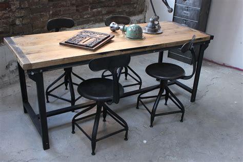 table cuisine industrielle table ou bureau metal industriel des annees 50 militaire