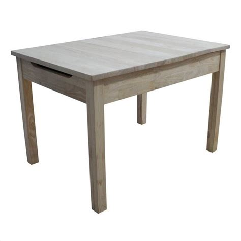 childrens table l unfinished kids table with storage jt 2532l