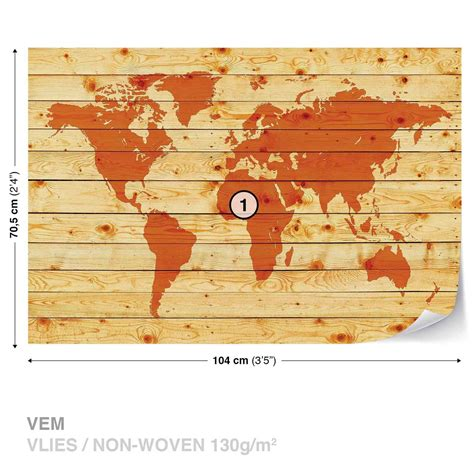 wood map wall world map wood planks wall paper mural buy at europosters 1600