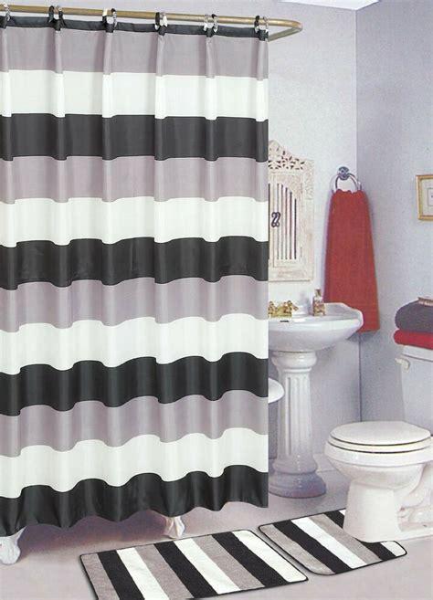 bath drapes black white 15 bathroom set bath rugs shower