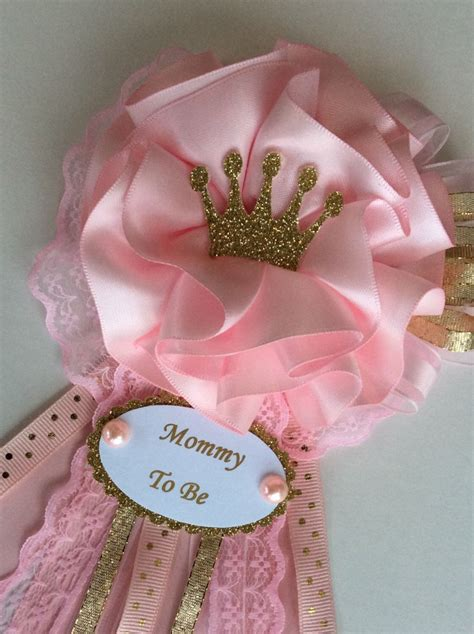 Baby Shower Pins For Corsages Princess Baby Shower Corsage Crown Baby Shower Corsage