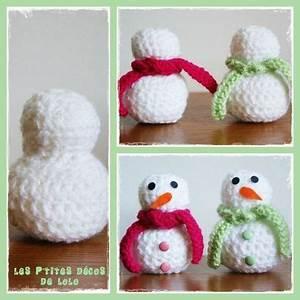 Tuto Sapin De Noel Au Crochet : tuto faire un bonhomme de neige au crochet les p 39 tites d cos de lolo en pr vision du ~ Farleysfitness.com Idées de Décoration