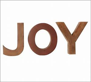 joy letters pottery barn With joy letters