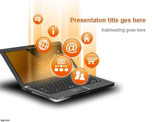 Powerpoint Templates Computer Theme by Free Powerpoint Template