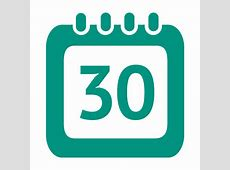 30th day calendar icon Transparent PNG & SVG vector