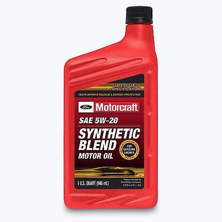Motorcraft 5W-20 Synthetic Blend Motor Oil (1 Quart) XO ...