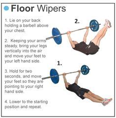 floor wiper abdominal exercises 1000 images about fitness on abbott
