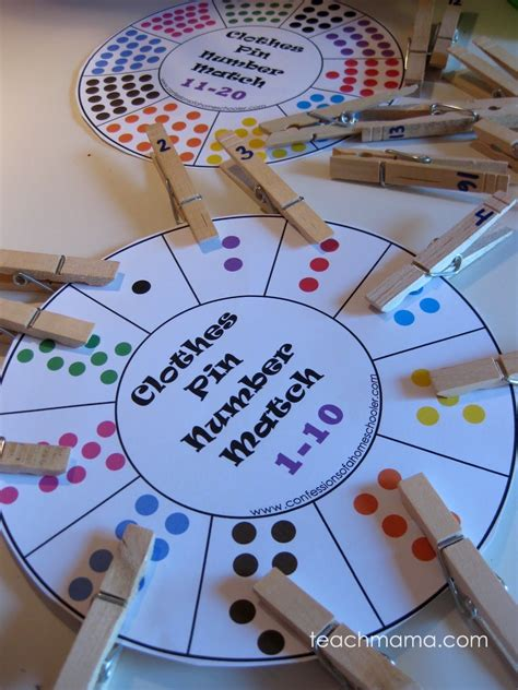 clothespin number and letter match up game teach mama