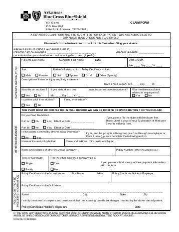 chiropractic pre authorization request form blue cross