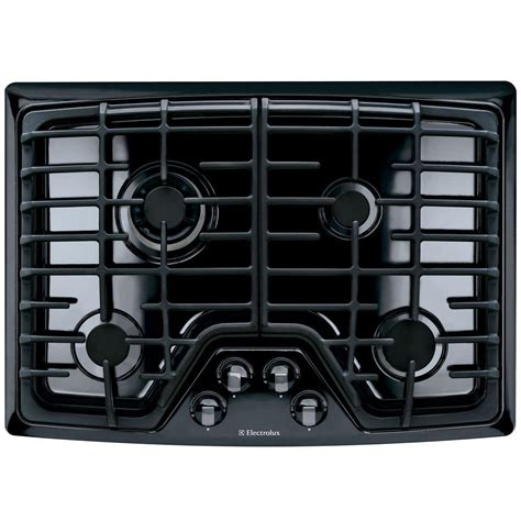 2 burner gas cooktop electrolux 30 in recessed gas cooktop in black with