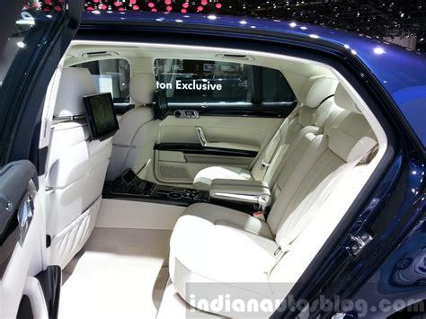 volkswagen phaeton back seat vw phaeton exclusive edition 2015 geneva live