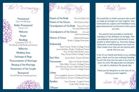 wedding program trifold