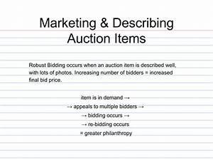 Marketing  U0026 Describing Auction Items