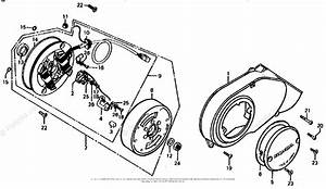 Honda Motorcycle 1976 Oem Parts Diagram For Left Crankcase