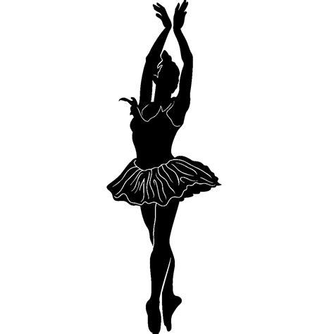 stickers de silhouettes et personnages silhouette d une ballerine ambiance sticker