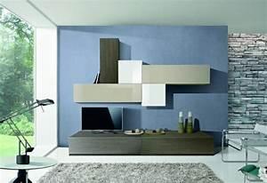 Mur En Pierre Interieur Moderne : design interieur meubles salon moderne mur bleu rev tement pierre meubles de salon 96 id es ~ Melissatoandfro.com Idées de Décoration