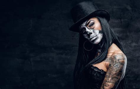 wallpaper sake pose female makeup black hat day