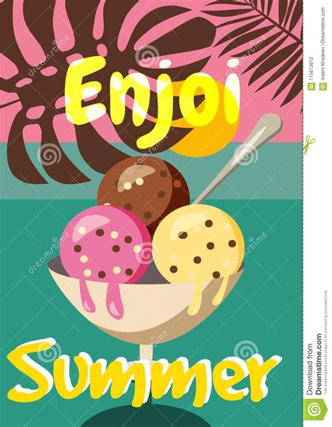 Cute Creative Card Templates With Ice Cream Theme Design