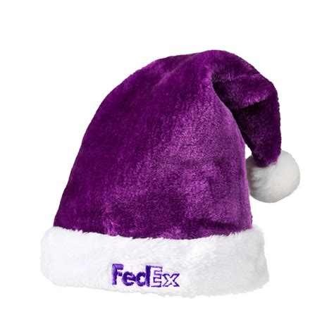 purple santa hats tag hats