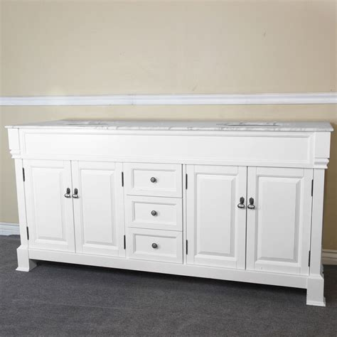 bellaterra amiens 74 inch double sink vanity in white with