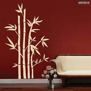wall decals large bamboo stalks modern surface graphics With wall murals decals
