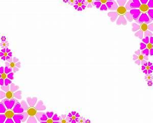 Pink Corner Flower Clipart