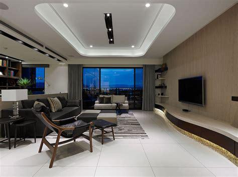 contemporary taiwan apartment showing luxury  simplicity  interior design