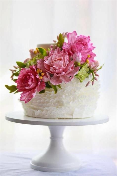 top  single tier gumpaste flower wedding cakes cheap