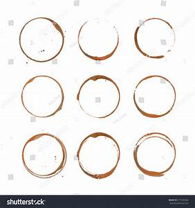 Coffee Ring Stain Card Logo List Stock Vector 277244546 ...