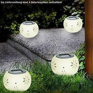 Lichter Für Den Garten : 4er set solar led kugel lampen leuchten garten lichter keramik beleuchtungen kaufen bei www ~ Sanjose-hotels-ca.com Haus und Dekorationen